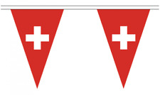 Switzerland 20M Triangle Flag Bunting - Large 54 Flags - Triangular