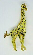 "Giraffe Pin 3.5"" Bob Mackie's Enamel"