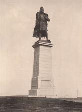 Columbus Monument, Lake Park, Chicago, Illinois. Albertype print 1893