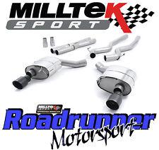 MILLTEK ssxfd161 Mustang 5.0 V8 GT SISTEMA DI SCARICO CAT BACK non RES DUAL NERO