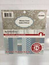 Recollections Vintage Winter Frost Pad 22 Sheets With Treatments 6in x 6in