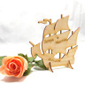 Geschenk zur Hochzeit, zum Geburtstag Personalisiert Dreimaster Schiff aus Holz