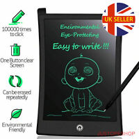 "8.5"" ELECTRONIC DIGITAL LCD WRITING PAD TABLET DRAWING GRAPHICS BOARD NOTEPAD UK"