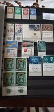 ISRAEL STAMPS 1  mnh  1954  full  year   & 1955  tab  block   menorah
