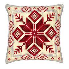 Vervaco - Cross Stitch Cushion Front Kit - Nordic Snowflake - 1200/115