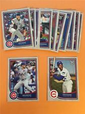 2018 Topps Big League Chicago Cubs Base Team Set 14 Cards