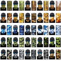3D Jungle Camouflag Face Shield Sun Mask Neck Gaiter Balaclava Scarf Headwear UV