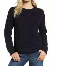 NWT JCREW J CREW WOMAN Cable pom-pom sweater in merino wool SIZE Large NEW