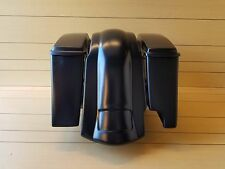 """4""""STRETCHED BAGS FOR 2 INTO 1 EXHAUST, LIDS AND REAR FENDER FOR HARLEY DAVIDSON"""