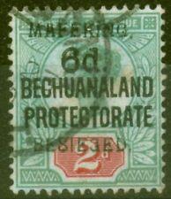 Mafeking 1900 6d on 2d Green & Carmine SG8 Fine Used