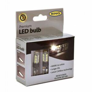 RING LED BULB 12V W5W 6000K-LED LONG LIFE RW501CBLED TOP QUALITY ITEM