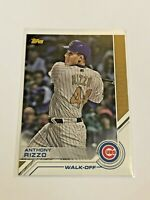 2017 Topps Update Baseball Topps Salute Walk-Off - Anthony Rizzo - Chicago Cubs