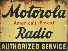 Retro Vintage Nostalgic Motorola TV Radio Repair Service Metal Tin Sign 9x12