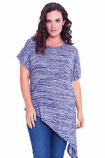 Striped Hip Length Other Tops Plus Size for Women