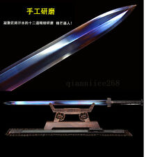 42' BLACK WOOD 1095 HIGH CARBON  STEEL SHARP CHINESE HAN SWORD LONG YIN 汉剑
