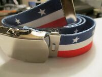 Patriotic American Flag inspired belt US Shipper  Perfect for Veteran's Day
