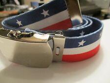 Patriotic American Flag inspired belt US Shipper  Perfect for Veteran's Day