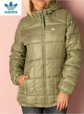 Neu Adidas Original Damen Winterjacke in Olivengrün S