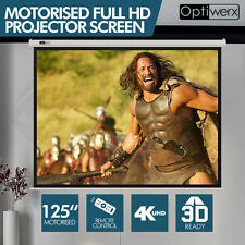 Optiwerx Electric Motorised Projector Screen Home Theatre HD TV Projection
