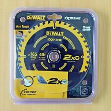 DeWalt DT10640 165mm 40T Extreme Framing Circular Saw Blade *NEW SEALED*