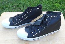 Burnetie Black High Top Vintage sneaker size 8 M12S16D-3 NEW Studs Spike