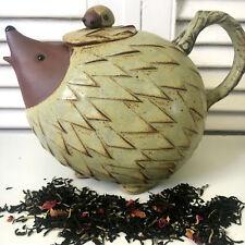 Teapot Cute Hedgehog Mother & Baby - Japanese Ceramic Novelty Tea Pot 1.25L