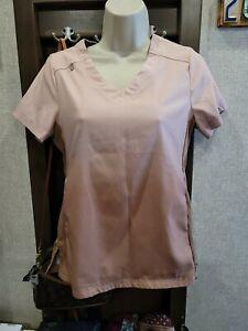 KOI Lite - Medical Scrub Top - peach/brown Ombre - Dobby - Size XXS - Slim Fit