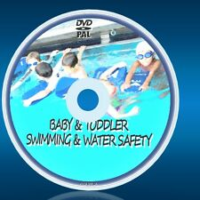 SWIM LESSONS FOR BABIES TODDLERS KIDS CHILDREN+LEARN TO BE SAFE IN WATER NEW DVD