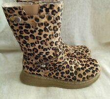 """Women's Leopard Boots by """"Little Laundry"""" Sierra Leather Upper Size 3M"""
