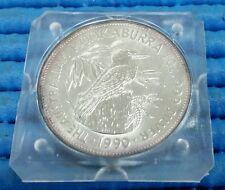 1990 Australia $5 Kookaburra 1 oz 999 Fine Silver Coin in Square Capsule