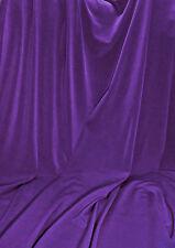 ROYAL PURPLE Stretch Jersey Knit Interlock Fabric Wringle Resist Smooth Drape
