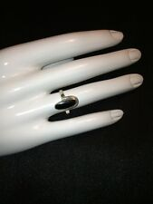 Unique .925 Sterling Silver & Genuine Onyx Oval Ring Simple Vintage Style $169