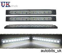 2 PCS 24V 24 V 12 SMD LED WHITE SIDE MARKER LIGHTS TRUCK LORRY TRAILER VAN 175mm