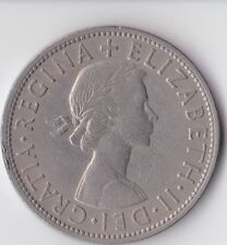 British Coin-Elizabeth II 1955 Demi-couronne