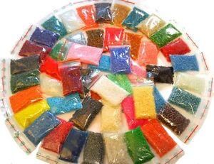 Rocailles Perlen Set 2mm Mix ( 50 paket x 20g ) 50 Farben 1kg Grosshandel AM8