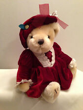 """Pearl Pickford Bear Of Wealth Brass Button Collectable Plush Stuffed Jointed 13"""""""