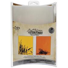 "Sizzix ~ Tim Holtz ~ Embossing Folders ""CATTAILS & PUMPKIN PATCH"" Set ~ 656940"