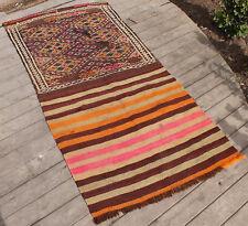 Turkish Kilim Rug 29''x61'&# 039; Oriental Vintage Rug Kars Cicim Kilim Wool 74x156cm