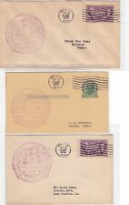 "#776 Mexia TEXAS Centennial 3 Covers 10/15/1936 OFFICIAL ""Fiesta"" !!"