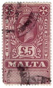 (I.B) Malta Revenue : Duty Stamp £5