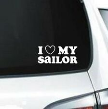 A132 I Love My Sailor  vinyl decal for car truck