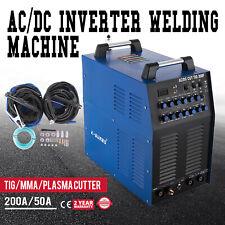 Saldatrice 200A AC/DC WIG TIG Inverter Saldatura Alluminio MMA +TAGLIO PLASMA