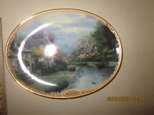 Thomas Kincaid oval plate