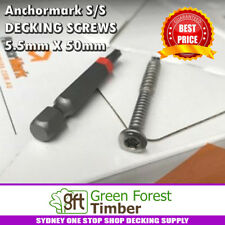 Anchormark STAINLESS STEEL DECKING SCREWS 5.5mm X 50mm SELF DRILL FOR MERBAU