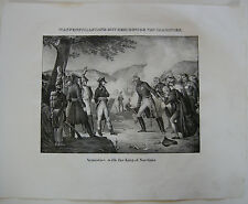 Napoleon Sardinia Sardinien Italia Orig Lithographie 1832 Napoleonische Kriege