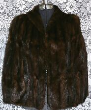 Vtg 1940s 50s Brown Ranch Mink Fur Wrap Cape Stole Shawl Jacket Great Condition!