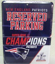 New England Patriots 2016 Super Bowl 51 Champions Metal Parking Sign