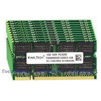 New 10pcs 10x1GB PC3200 DDR 400MHZ 200Pin SODIMM Laptop Memory NON-ECC Ram DIMM