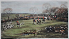 LARGE SPORTING LITHOGRAPH, FORES, LONDON, 1912, G.D. GILES