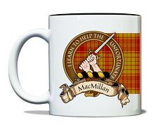 MacMillan Scottish Clan Mug Crest Motto Old Tartan 11oz Ceramic Coffee Tea Mug